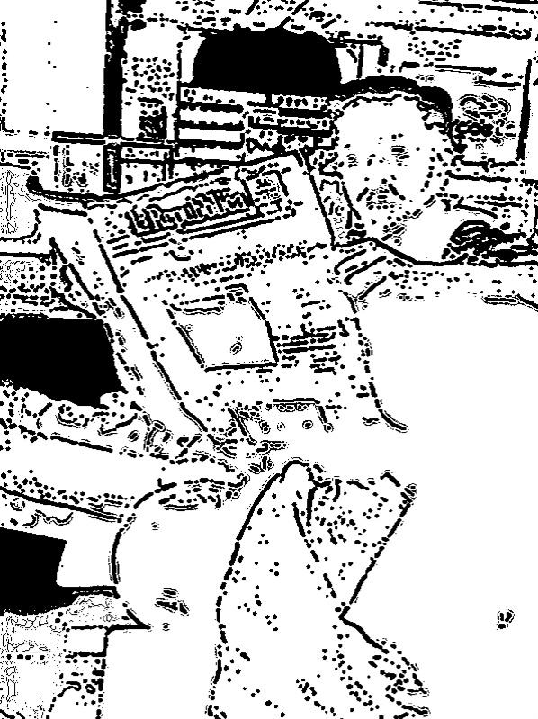 mio papà che legge la Repubblica